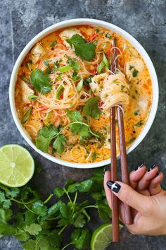 Thai Red Curry Noodle Soup - Yes, you can have Thai takeout right at home! - Thai Red Curry Noodle Soup - Yes, you can have Thai takeout right at home! Thai Red Curry Noodle Soup - Yes, you can have Thai takeout right . Vegetarian Recipes, Cooking Recipes, Healthy Recipes, Thai Curry Recipes, Vegetarian Noodle Soup, Veggie Noodle Soup, Noodle Bowls, Thai Vegetable Soup, Asian Chicken Noodle Soup