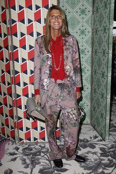 Anna Dello Russo in custom Gucci at Gucci S/S 2016 show