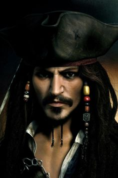 Pirates of the Caribbean Jack Sparrow iPhone 4 Wallpaper