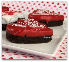 heart shaped brownies!!