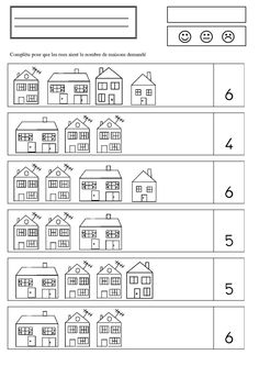 Math ház - a Camille Activity Games, Math Games, Preschool Activities, Coloring Books, Coloring Pages, Kindergarten, Home Themes, English Games, Grande Section