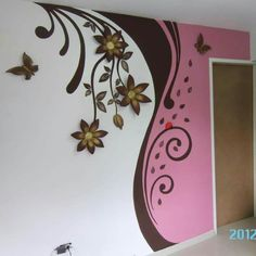 Creative Wall Painting, Wall Painting Decor, Mural Wall Art, Wall Art Decor, Creative Walls, Bedroom Wall Designs, Bedroom Wall Colors, Teen Room Decor, Bedroom Decor