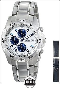 FESTINA Sport 16169/2 - Reloj unisex de cuarzo, correa de acero inoxidable color plata de  ✿ Relojes para hombre - (Gama media/alta) ✿