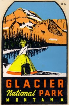 Glacier National Park Car Decal
