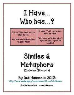 Simile and metaphors? please help!?