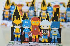ironmand with cricut   Superhero Avengers Invitations: Ironman, Capt America, Thor, Wolverine ...