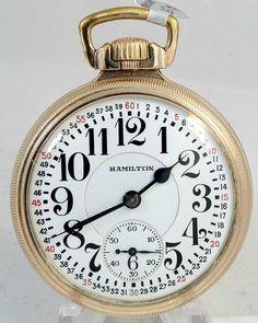 Hamilton 16s 23J 950E Elinvar Railroad Pocketwatch