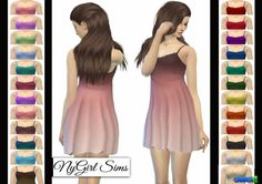 NY Girl Sims: Lace Overlay Babydoll Dress • Sims 4 Downloads