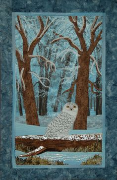 """Snowy Wonderland"" was fun to make.  I particularly like the puff paint on the log."