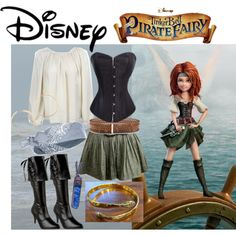 Zarina The Pirate Fairy by offthepaige on Polyvore featuring CatWorld, Funtasma, Jens Pirate Booty, Kristen Elspeth, River Island, Tory Burch and Disney