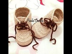 This video is a detailed step by step tutorial on how to crochet pretty baby ballet slippers / booties / shoes. These baby slippers fit 0-3 months. For my ba...