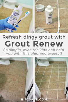 If you currently have some dingy looking grout that could use a makeover, you're in luck because today I'm sharing something that worked for me and my home. It's totally inexpensive and produces beautiful before/after results. Grout Stain, Grout Pen, Sealing Grout, Cement Grout, Tile Grout, Best Grout Cleaner, Shower Cleaner, House Cleaning Tips, Cleaning Hacks