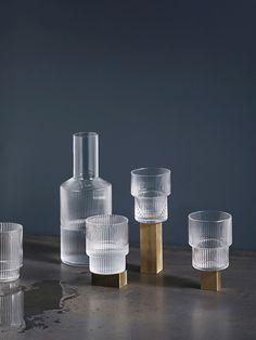 FERM living - Ripple Glass + Carafe - Eða einhver falleg stafnlanleg vatnsglös