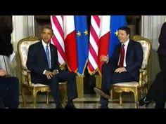 """Obama in Italia a Roma da Renzi - """"Mantenere Impegno Militare!"""""""