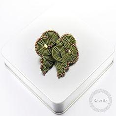 Kavrila - biżuteria autorska . sutasz . soutache: Lidire olivine soutache