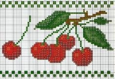 cherries cross stitch