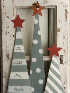Christmas Tree And Santa, Christmas Arts And Crafts, Christmas Decorations To Make, Christmas Projects, Christmas Porch, Christmas Fun, Holiday Crafts, Pintura Country, Advent