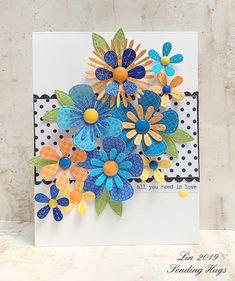 Sending Hugs: Looking Back at My Favorite Cards of 2019 Handmade Greetings, Greeting Cards Handmade, Sending Hugs, Handmade Birthday Cards, Creative Cards, Flower Cards, Diy Cards, Homemade Cards, Cardmaking