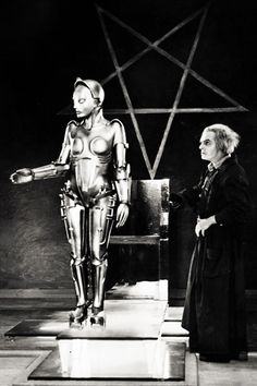 Metropolis ... Rotwang, the evil scientist, and his creation, Robot Maria