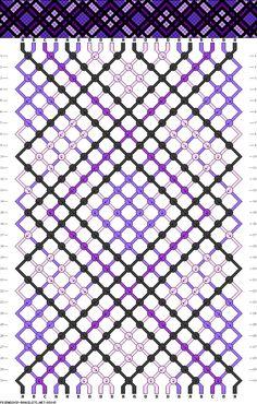 Muster # 85805, Streicher: 20 Zeilen: 30 Farben: 4