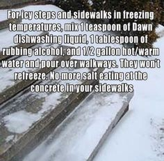 For Icy Steps/Walkways