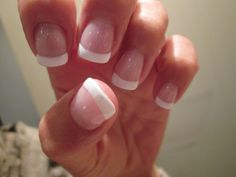 My Own Creation: Classic french done with Clearly Pink and Studio White Shellac over gel nails