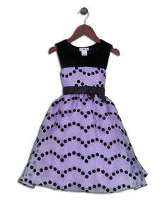 Take a look at the Joe-Ella Purple & Black Polka Dot Dress - Infant, Toddler & Girls on #zulily today!