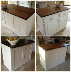 board and batten kitchen island makeover, Serene Swede featured on Remodelaholic