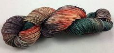 hand dyed sock yarn multi-colorway SHARK ATTACK fingering