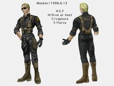 [Wasn't this design later used in South Park?]Resident Evil Code: Veronica was my favorite entri…