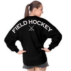 Field Hockey Spirit Football Jersey® Black-XS-White