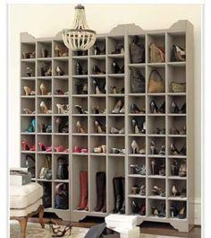 i love this shoe and handbag storage tower from ballard design a great way to organize your closet just like having a custom shoe closet