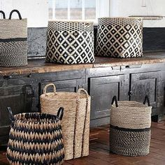 55 Modern Scandinavian Interior Designs and Ideas Gorgeous Scandinavian storage baskets Modern Scandinavian Interior, Home And Deco, Storage Baskets, Rattan, Wicker, Seagrass Baskets, Woven Baskets, Interior Inspiration, Handmade Home Decor