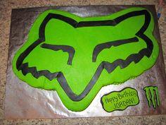 FOX dirt bike cake
