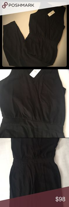 Classic black cross front jumpsuit - Splendid Super cute and deliciously soft classic black jumpsuit. Clasps in the front with the chic cross front design. Super easy to dress up for a night out or slip on for a cup of coffee! Brand new, tags included, never worn. Splendid Other