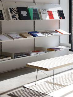 A Specialized Graphic Design Bookstore Comes to Brooklyn - Design Milk Cheap Rustic Decor, Unique Home Decor, Cheap Home Decor, Bookstore Design, Interior Design Studio, Home Decor Accessories, Home Remodeling, Interior Architecture, Decoration