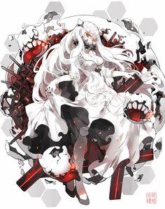 中間棲姫 Nine #anime #illustration