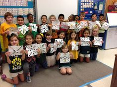 Kinders created snowflake cut-outs! People are like snowflakes. Each is different. They get it!