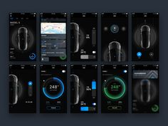 """This is my responsible project which about the Tesla control. Come to knight rider app and play your Tesla. If you like this, pleases press """"L"""" to surrport me. Flat Web Design, App Ui Design, Responsive Web Design, Dashboard Design, User Interface Design, Mobile App Design Templates, Mobile Ui Patterns, Mobile Design, Car Animation"""