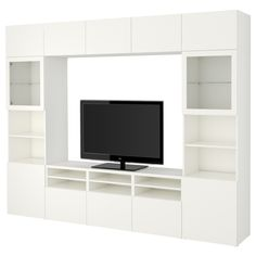 IKEA - BESTÅ TV storage combination/glass doors Lappviken, Sindvik