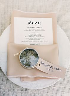 #menusPhotography: Lavender & Twine - lavenderandtwine.comRead More: http://stylemepretty.com/2013/10/15/ojai-garden-wedding-from-lavender-twine/