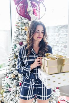 festive holiday PJs | as seen on The Styled Fox, a Houston Fashion Blog