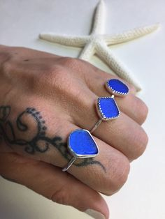 Hey, I found this really awesome Etsy listing at https://www.etsy.com/listing/232388895/sea-glass-rings-cobalt-blue-mermaid