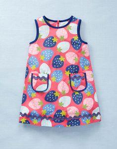 Mini Boden funky strawberry print toddler dress