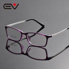 71faa395df48 2016 New Fashion Men TR90 Square Eyeglasses Frames Brand Design Women  Optical Eyewear Frame oculos de grau EV1344-in Eyewear Frames from Men s  Clothing ...
