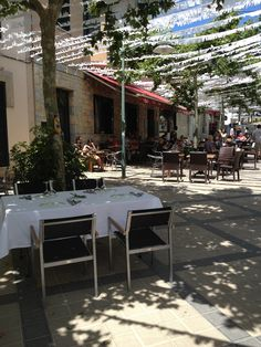 Simple Restaurant but great food in town square at Esporles Mallorca  http://www.mallorcalife.co.uk