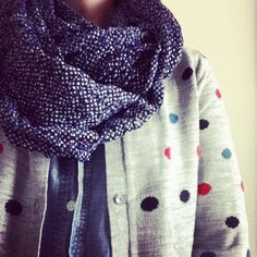 polka dotted perfection / the bliss dot cardi from caitlin_cawley instagram