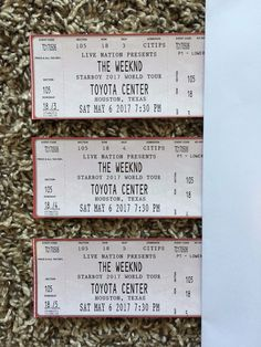 #Tickets The Weeknd Houston Texas Toyota Center 3 Concert Tickets Section 105 #Tickets
