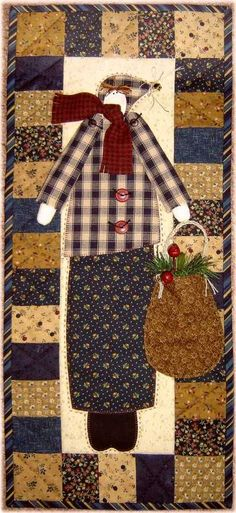 Bundle Up appliqued wall quilt pattern by Terry Morberg | Applepatch Designs