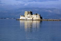 #Greece - Nafplio Castle. Built in 1471 by Antonio Gambello, an architect from Bergamo. Nafplio situated on the Argolic Gulf in the northeast Peloponnese